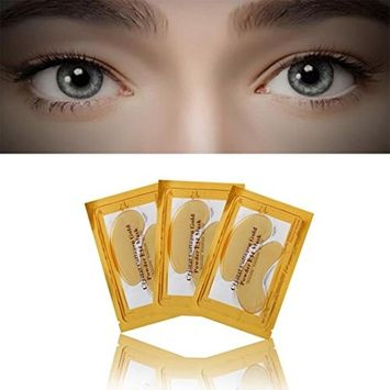 DZT1968 1pc 24k Gold Eye removes puffiness Crystal Collagen Aging Wrinkle Under Crystal Gel Patch Anti Mask