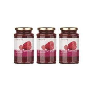 (3 PACK) - Clearspring - Org Fruit Spread Raspberry   290g   3 PACK BUNDLE