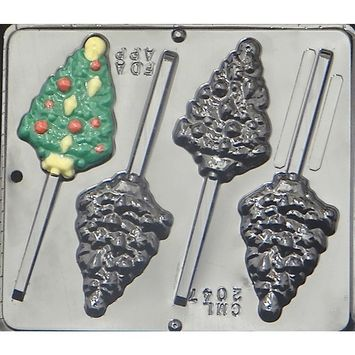 2047 Christmas Tree with Ornaments Lollipop Chocolate Candy M