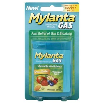 Mylicon Mylanta Gas Assorted Fruit Chewable Mini-Tablets, 50 count