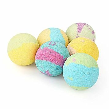 Liberex Bath Bombs Set - Gift Kit with 6 Scents for Women Kids, FDA Approved, 6 x 3.5 Oz