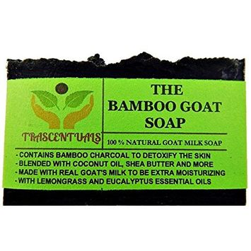 Activated Bamboo Charcoal Soap With Goat Milk Also Contains Lemongrass and Eucalyptus Essential Oils For Maximum Skin Detoxification Comes in Designer Box
