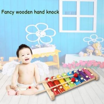 2017 New Colorful 8 Different Tones Hand Knock Wood Piano Kids Toy Xylophone Music Rhythm Learnin In Advance for Preschoolers and Toddlers