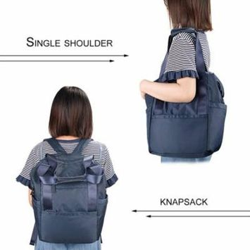 Blue Wxd Multfunctional Portable Baby Diaper Bag Waterproof Nylon Stroller Bag