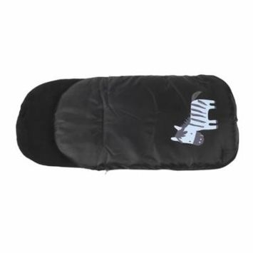 Windproof Cold-Proof Baby Stroller Sleeping Bag Wheelchair Winter Autumn Pram Cover Mat Carriage Warm Booties Black