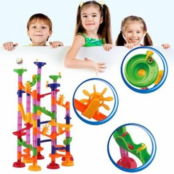 Diy Construction Balls Track Plastic House Building Blocks Toys For Christmas Colorful