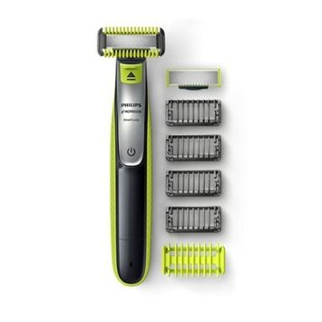 Philips Norelco Cordless All-in-One Advanced Wet & Dry Rechargeable Electric Shaver & Trimmer For Sensitive Skin With Shave Sensor Technology