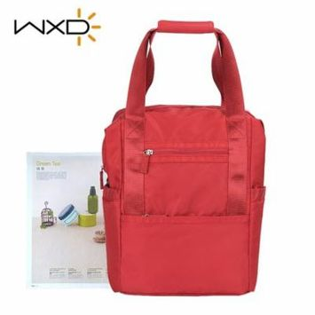Perfect Mom Choice Stylish Gifts for Her WXD Multfunctional Portable Baby Diaper Bag Waterproof Nylon Stroller Bag