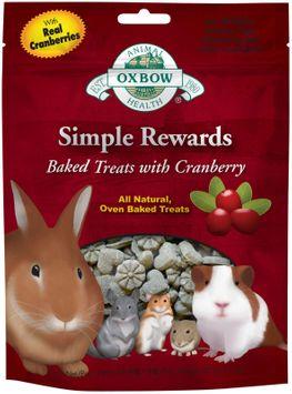 Oxbow Simple Rewards Baked Treats - Cranberry