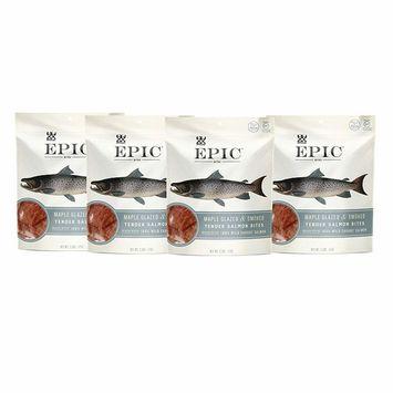 Epic Jerky Bites, 100% Wild Caught, Maple Glazed & Smoked, Alaskan Salmon, Coconut Oil 2.5 oz.