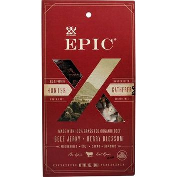 Epic Hunt & Harvest, 100% Grass Fed, Beef Jerky, Berry Blossom Mix, 2.25 ounce (Pack of 8)