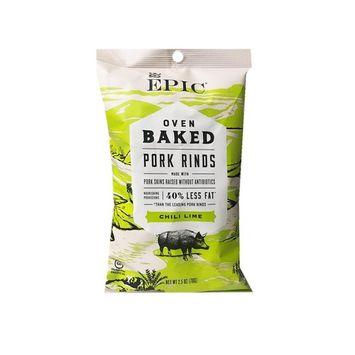Epic New Oven Baked Pork Rinds, Chili Lime 2.5oz (6 Pack)