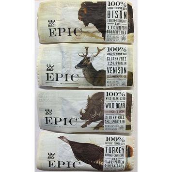 Epic - Epic Bar Sample Pack (4 Bars Total) Bison, Venison, Wild Boar, Turkey.