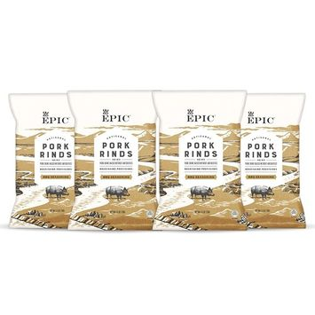 Epic Artisanal Pork Rinds, BBQ, 2.5 ounce, 4 Count [BBQ]
