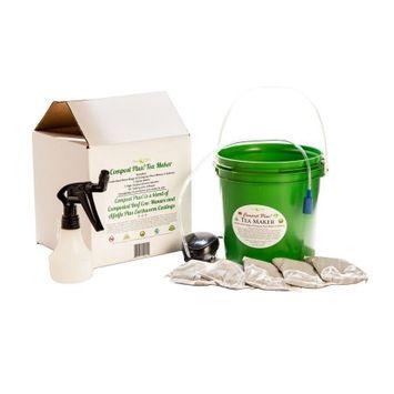 Planttea Compost Plus Tea Maker with 5-Brew Bags of Compost Plus Makes 5 gal.