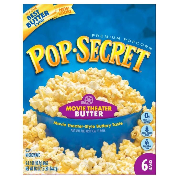 Pop-secret Pop Secret Movie Theatre Buttered Popcorn 6 ct