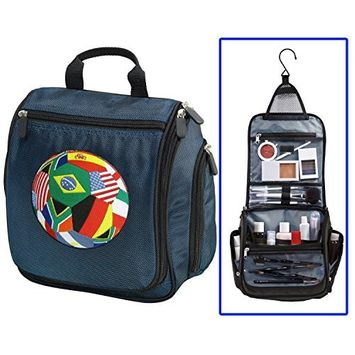 World Cup Fan Toiletry Bag Or Hanging Mens Soccer Shaving Kit