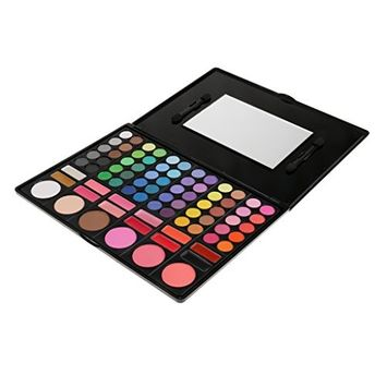 MagiDeal Pro 78 Colour Matte & Pearl Eyeshadow Palette Makeup Kit Set with Box Mirror