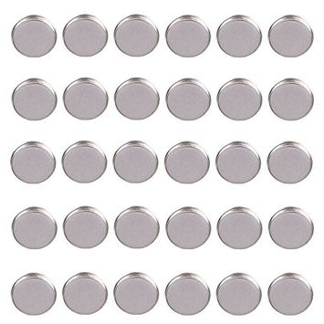 30 Pcs Empty Round Metal Tin DIY Palette Press Pans For Eyeshadow Pressing Pigments into Palettes,Diameter 15mm by Team-Management