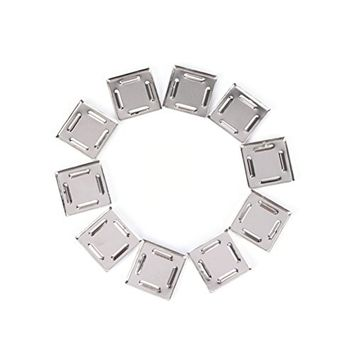 10 Pcs Empty Metal Square Tin Pans for Powder Eyeshadow Responsive to Magnets,25X25mm by Team-Management