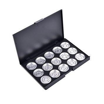 1 Pcs Makeup Cosmetic Empty 15 Pcs Aluminum Eyeshadow Eye Shadow Pigment Pans Palette Case by Team-Management