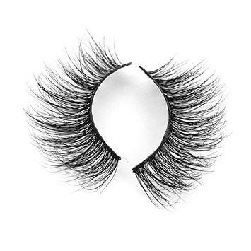 SODIAL Vessel 1 Pairs Luxurise 3D False Eyelashes Cross Natural Long Eyes Eyelashes Makeup A02