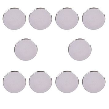 10 Pcs Empty Round Metal Tin DIY Palette Press Pans Responsive To Magnets For Palettes,Diameter 36.5mm by Team-Management
