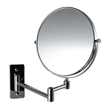 Magik 10x Magnification Two-Sided Swivel Wall Mount Mirror 8-Inch, Polished Chrome