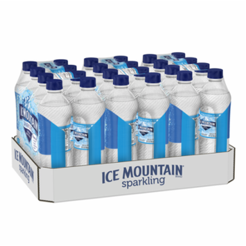 Ice Mountain® Sparkling Water, Simply Bubbles, 16.9 fl. oz. Bottles (Pack of 24)
