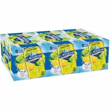 Ice Mountain Sparkling Natural Spring Water, Lemon Lime, 12 Fl Oz, 24 Count