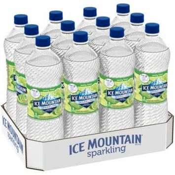 Ice Mountain Sparkling Water, Zesty Lime, 33.8 oz. Bottles (Pack of 12)