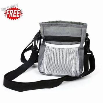 Oie Loves 2PCS Dog Treat Training Pouch Dog Oxford Snack Bag With Waist Belt Shoulder Strap