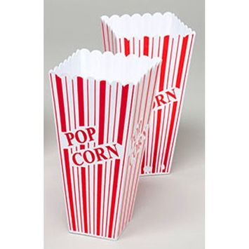 Set of 2 Popcorn Plastic Container Box Tub Bowl - Presentation is Everything
