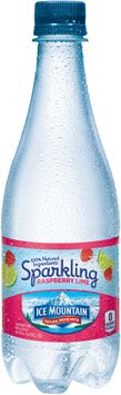 Ice Mountain Raspberry Lime Essence Sparkling Natural Spring Water