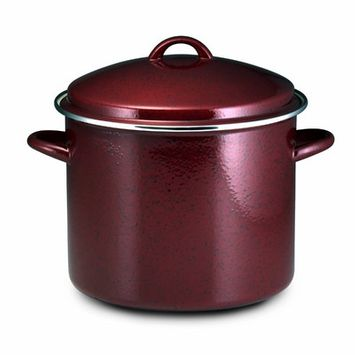 Paula Deen Signature Enamel on Steel 12-qt. Covered Stockpot