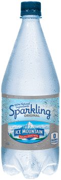 ICE MOUNTAIN Brand Sparkling Natural Spring Water, 33.8-ounce plastic bottle