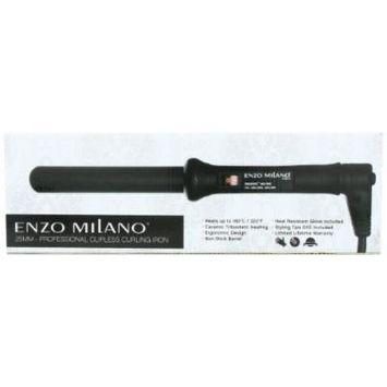 Enzo Milano STR25DV-B Professional Clipless Round Barrel Curling Iron, 1 Inch