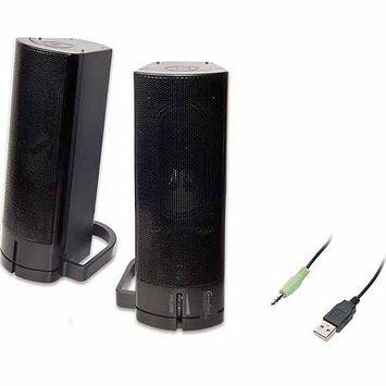 Syba CL-SPK20037 Black USB Stereo Spkr Magnetic Design