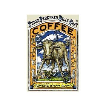 Raven's Brew Whole Bean Three Peckered Billy Goat, Dark Roast 12-Ounce Bag