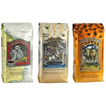 Raven's Brew Whole Bean Coffee Variety Pack, Number 1, 12 Ounce (Pack of 3)