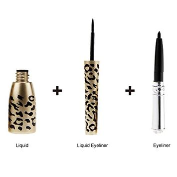 Kanzd Stay All Day Waterproof Leopard Shell Black Liquid Eye Liner Eyeliner Pen Make Up Cosmetic