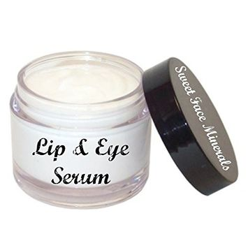 Eye and Lip Cream Serum (2oz Jar) Wrinkle Moisturizer Anti Aging Contour Organic Lotion