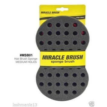 Miracle Twist Hair Brush/Sponge For Medium Dreads & Afro Holes #MSB01 by Miracle