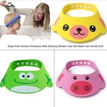 Datework Adjustable Baby Child Kids Shampoo Bath Shower Cap Wash Hair Hat