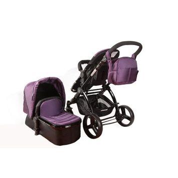 Elle Baby, Inc. Black on Plum Travel System Elle Baby 3-in-1 Pram/Stroller