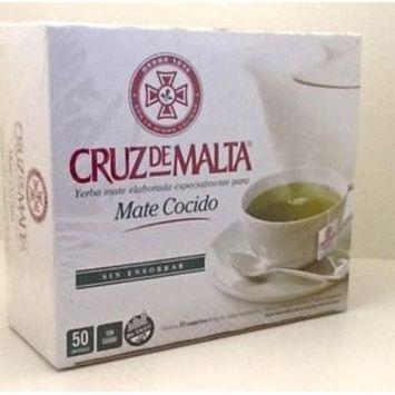 2-Pack Cruz De Malta Yerba Mate Elaborada Mate Cocido 50 Tea Bags