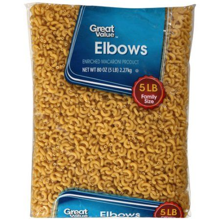 Wal-mart Stores, Inc. Great Value Elbows Pasta, 5 lbs