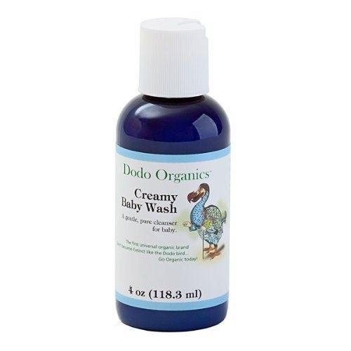 Dodo Organics Creamy Baby Wash, 4-Ounce Bottles