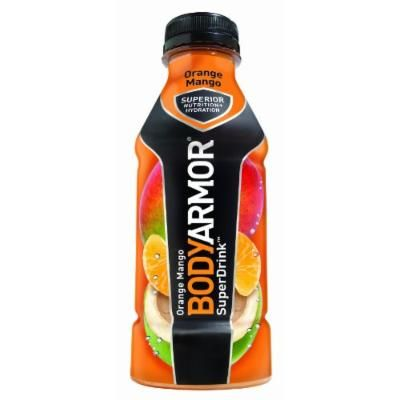 BodyArmor SuperDrink, Orange Mango, 16-Ounce Bottles (Pack of 12)