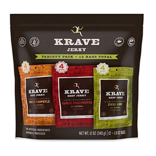 Krave Beef Jerky Variety Pack (1 oz. ea., 12ct.)